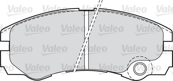 Kit de plaquettes de frein, frein à disque - VALEO - 598661