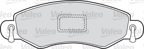 Kit de plaquettes de frein, frein à disque - VALEO - 598477