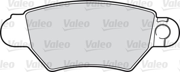 Kit de plaquettes de frein, frein à disque - VALEO - 598455