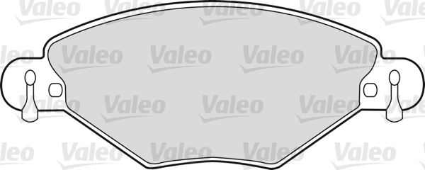 Kit de plaquettes de frein, frein à disque - VALEO - 598419