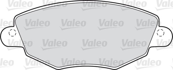 Kit de plaquettes de frein, frein à disque - VALEO - 598433