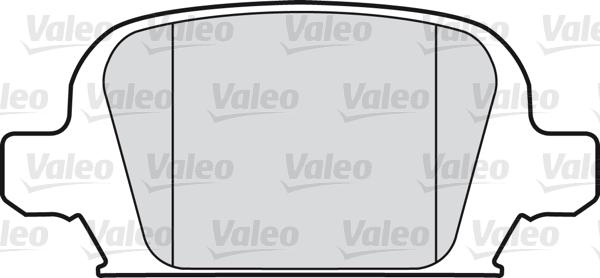 Kit de plaquettes de frein, frein à disque - VALEO - 598457