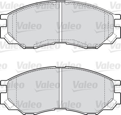 Kit de plaquettes de frein, frein à disque - VALEO - 598522