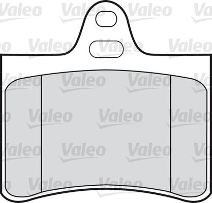 Kit de plaquettes de frein, frein à disque - VALEO - 598418
