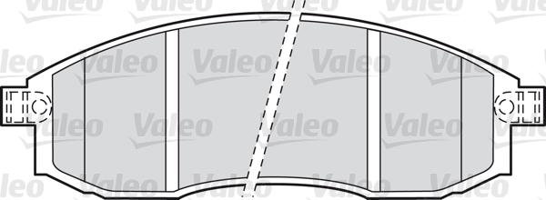 Kit de plaquettes de frein, frein à disque - VALEO - 598523