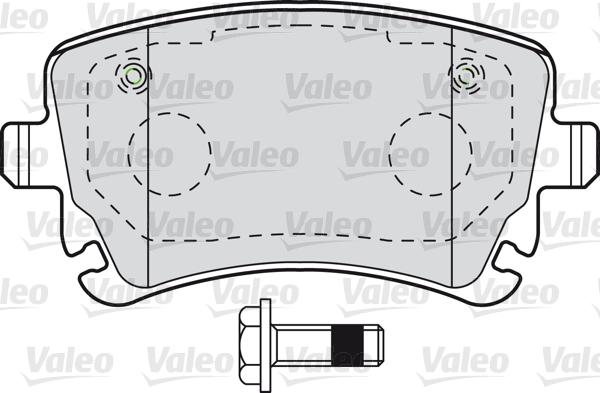 Kit de plaquettes de frein, frein à disque - VALEO - 601004