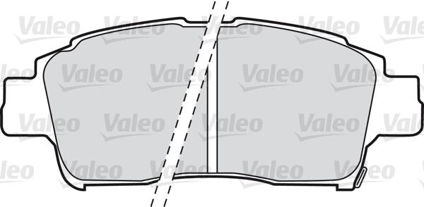 Kit de plaquettes de frein, frein à disque - VALEO - 598606