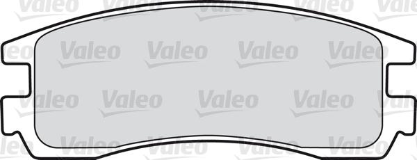 Kit de plaquettes de frein, frein à disque - VALEO - 598459