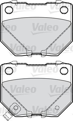 Kit de plaquettes de frein, frein à disque - VALEO - 598916