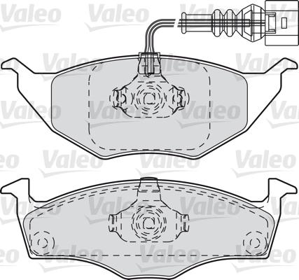 Kit de plaquettes de frein, frein à disque - VALEO - 598734