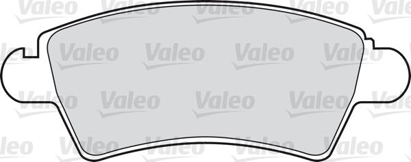 Kit de plaquettes de frein, frein à disque - VALEO - 598462