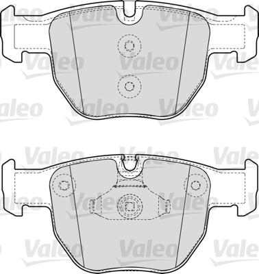 Kit de plaquettes de frein, frein à disque - VALEO - 598658