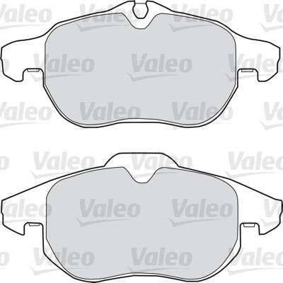 Kit de plaquettes de frein, frein à disque - VALEO - 598678