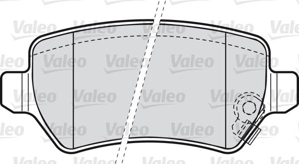 Kit de plaquettes de frein, frein à disque - VALEO - 598584