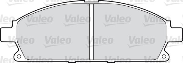 Kit de plaquettes de frein, frein à disque - VALEO - 598452