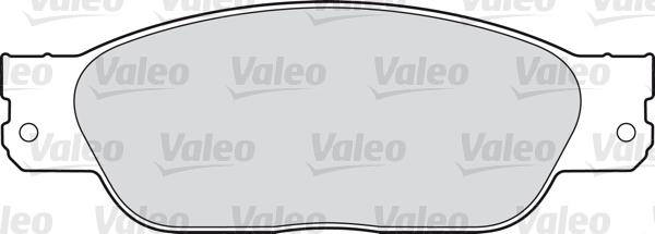 Kit de plaquettes de frein, frein à disque - VALEO - 598439