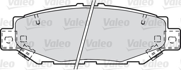 Kit de plaquettes de frein, frein à disque - VALEO - 601022