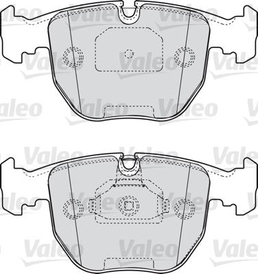 Kit de plaquettes de frein, frein à disque - VALEO - 598412
