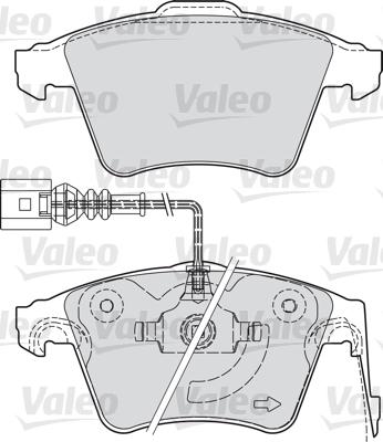 Kit de plaquettes de frein, frein à disque - VALEO - 598940