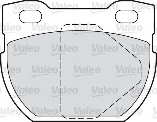 Kit de plaquettes de frein, frein à disque - VALEO - 598762