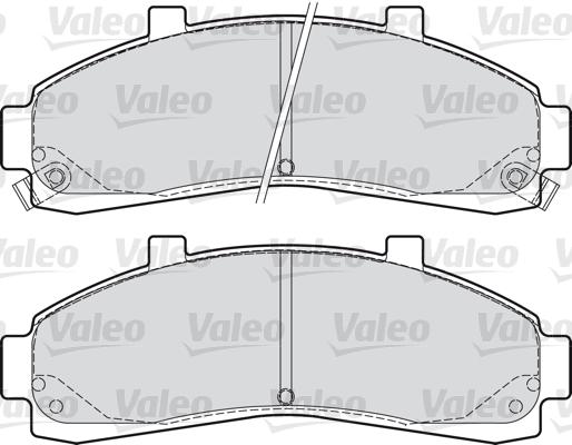 Kit de plaquettes de frein, frein à disque - VALEO - 598906