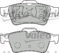 Kit de plaquettes de frein, frein à disque - VALEO - 598472