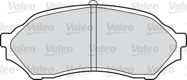 Kit de plaquettes de frein, frein à disque - VALEO - 598548