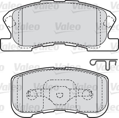 Kit de plaquettes de frein, frein à disque - VALEO - 598856