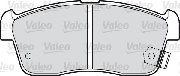 Kit de plaquettes de frein, frein à disque - VALEO - 598733