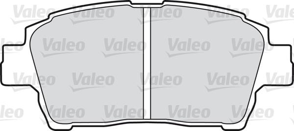 Kit de plaquettes de frein, frein à disque - VALEO - 598737