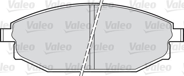 Kit de plaquettes de frein, frein à disque - VALEO - 598504