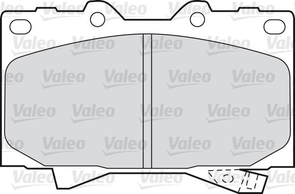 Kit de plaquettes de frein, frein à disque - VALEO - 598535