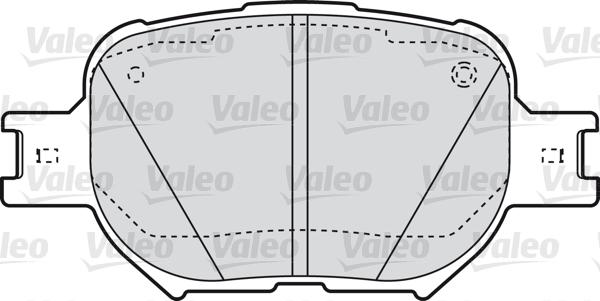 Kit de plaquettes de frein, frein à disque - VALEO - 598827