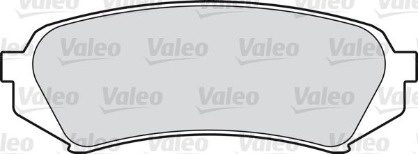 Kit de plaquettes de frein, frein à disque - VALEO - 598865