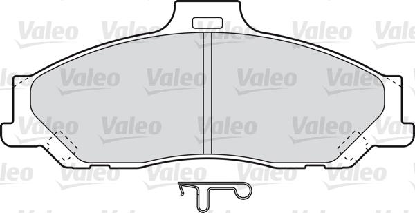 Kit de plaquettes de frein, frein à disque - VALEO - 598784