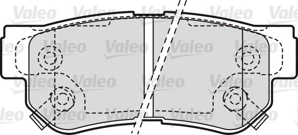 Kit de plaquettes de frein, frein à disque - VALEO - 598748
