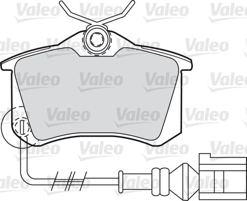 Kit de plaquettes de frein, frein à disque - VALEO - 598674
