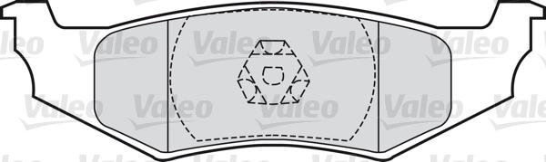 Kit de plaquettes de frein, frein à disque - VALEO - 598544
