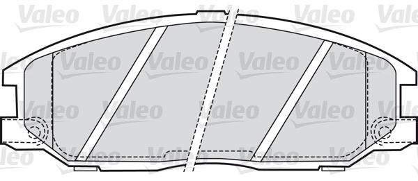 Kit de plaquettes de frein, frein à disque - VALEO - 598759