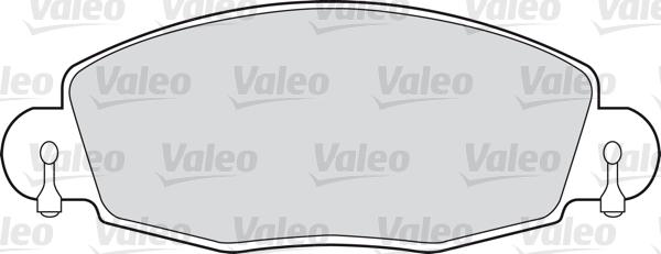 Kit de plaquettes de frein, frein à disque - VALEO - 598547