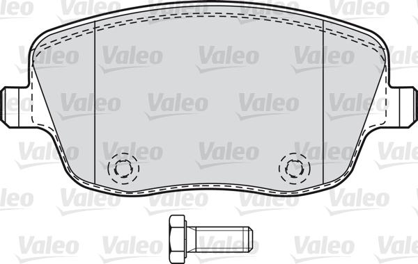 Kit de plaquettes de frein, frein à disque - VALEO - 598667