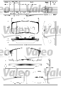 Kit de plaquettes de frein, frein à disque - VALEO - 598521