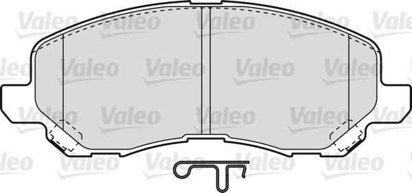 Kit de plaquettes de frein, frein à disque - VALEO - 598886
