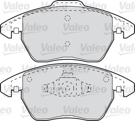 Kit de plaquettes de frein, frein à disque - VALEO - 598715