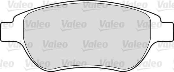 Kit de plaquettes de frein, frein à disque - VALEO - 598465