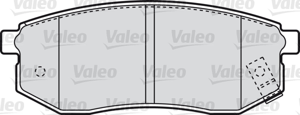 Kit de plaquettes de frein, frein à disque - VALEO - 598866