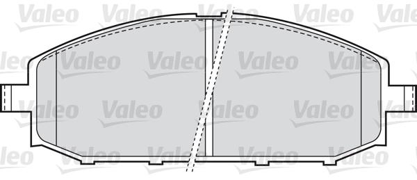Kit de plaquettes de frein, frein à disque - VALEO - 598524