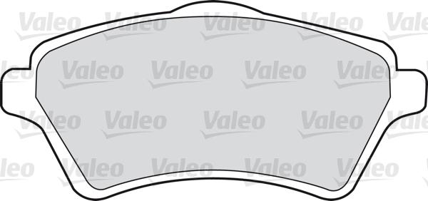 Kit de plaquettes de frein, frein à disque - VALEO - 598514