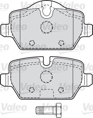 Kit de plaquettes de frein, frein à disque - VALEO - 598701