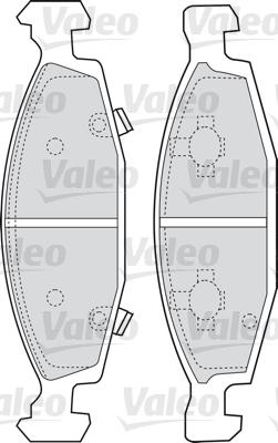 Kit de plaquettes de frein, frein à disque - VALEO - 598510